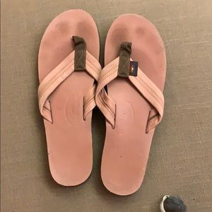 Pink Rainbow flip flops